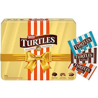 Turtles NESTLÉ Assorted Holiday Gift Chocolates Tin, 266g - Larry The Liquidator