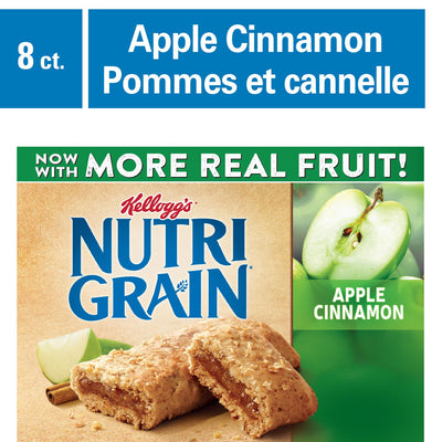 Kellogg's Nutri-Grain Cereal Bars 295g - Apple Cinnamon - Larry The Liquidator