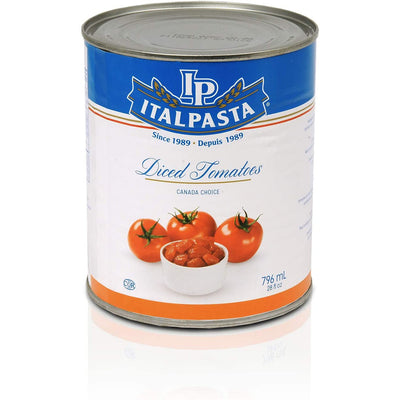 Italpasta Canadian Diced Tomatoes, 796ml - Larry The Liquidator