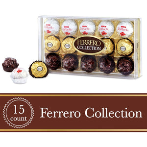 Ferrero Collection  Gift Box, 15 Count, Fine Assorted Chocolate and Coconut Confections, 156g - Larry The Liquidator