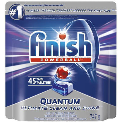 Finish Dishwasher Detergent, Powerball Quantum,  45 Tabs, 747g - Larry The Liquidator
