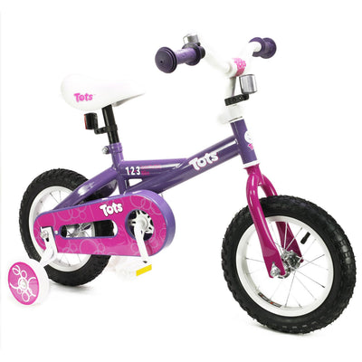 "Edge Brands Girls' 12"" Pink Steel Frame Tots 1-2-3 Bike with Air Tire - Larry The Liquidator"