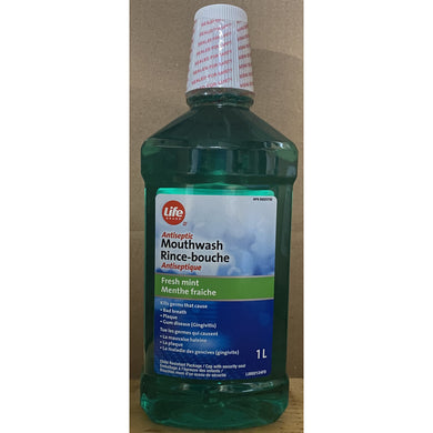 Life Brand Antiseptic Mouth Wash 1L - Larry The Liquidator
