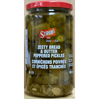 Strub's Zesty Bread & Butter Peppered Pickles 750ml - Larry The Liquidator