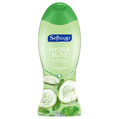 Softsoap Hydra Bliss Body Wash, Cucumber Water and Mint 443ml - Larry The Liquidator