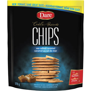Dare Cookie Chips Sea Salted Caramel, 170g - Larry The Liquidator