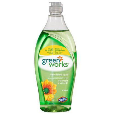 Green Works Natural Dishwashing Liquid, Original, 650mL - Larry The Liquidator
