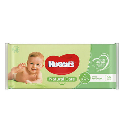 Huggies Wipes Baby Wipes Natural Care with Aloe Vera 56 Wipes - Larry The Liquidator