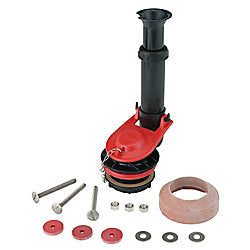 Korky Toilet Repair 2 Inch Adjustable FlushValve Kit with Tank-to-Bowl Gasket & hardware - Larry The Liquidator