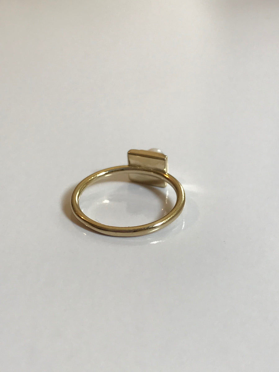 High Pearl Ring in Gold Vermeil - Jodie Guirey