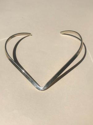 Base Necklace in Silver - Jodie Guirey