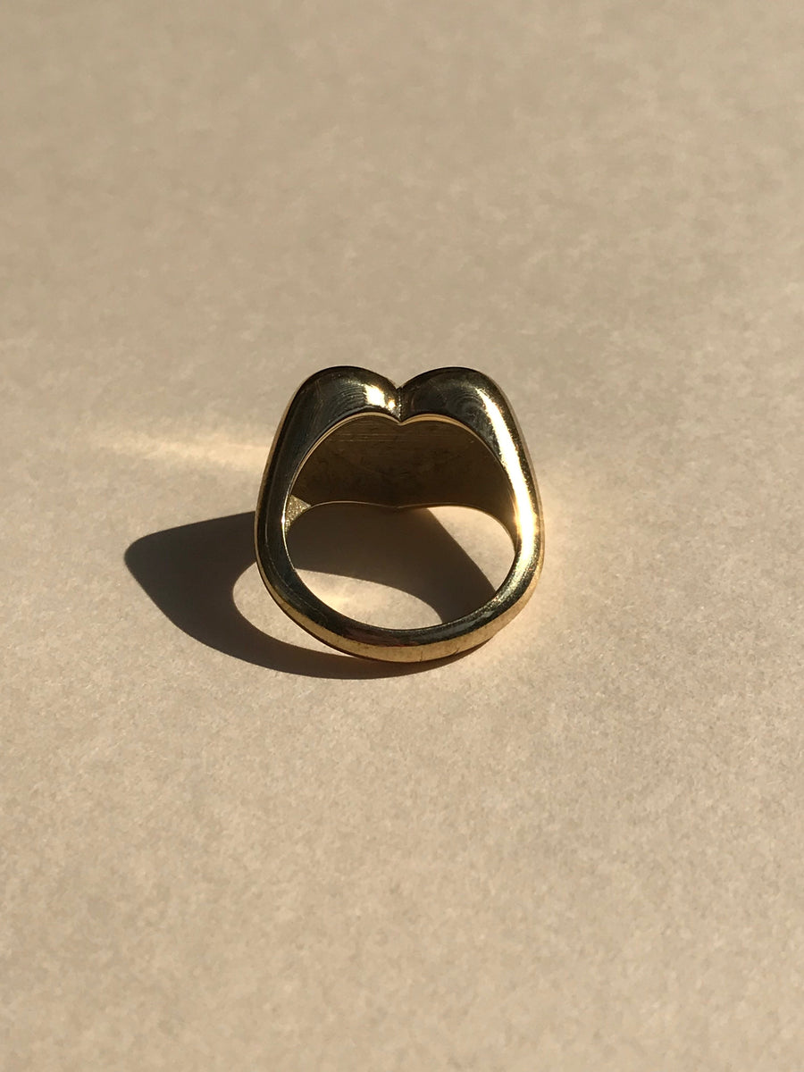 Love Signet Ring in Gold Vermeil - Jodie Guirey