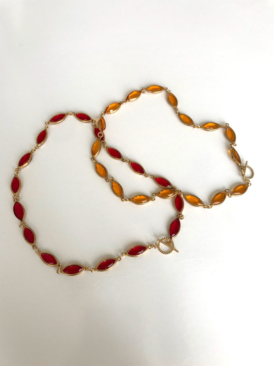 SAMPLE SALE - Sun Chain Necklace in Ruby - Jodie Guirey