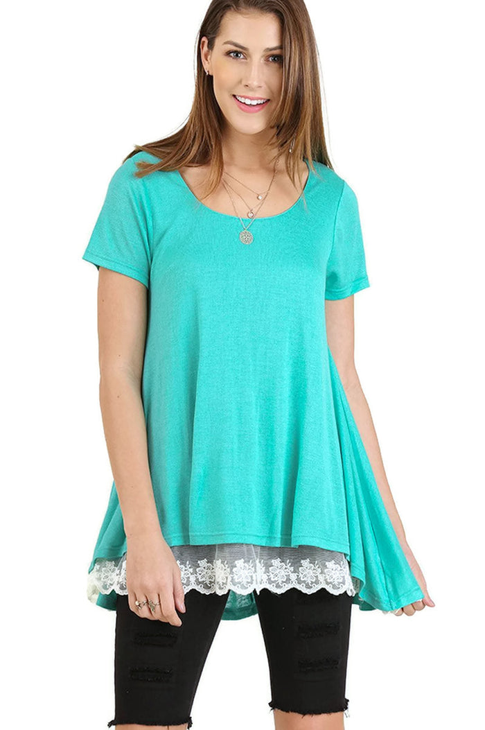 Everyday Lace Top, Emerald