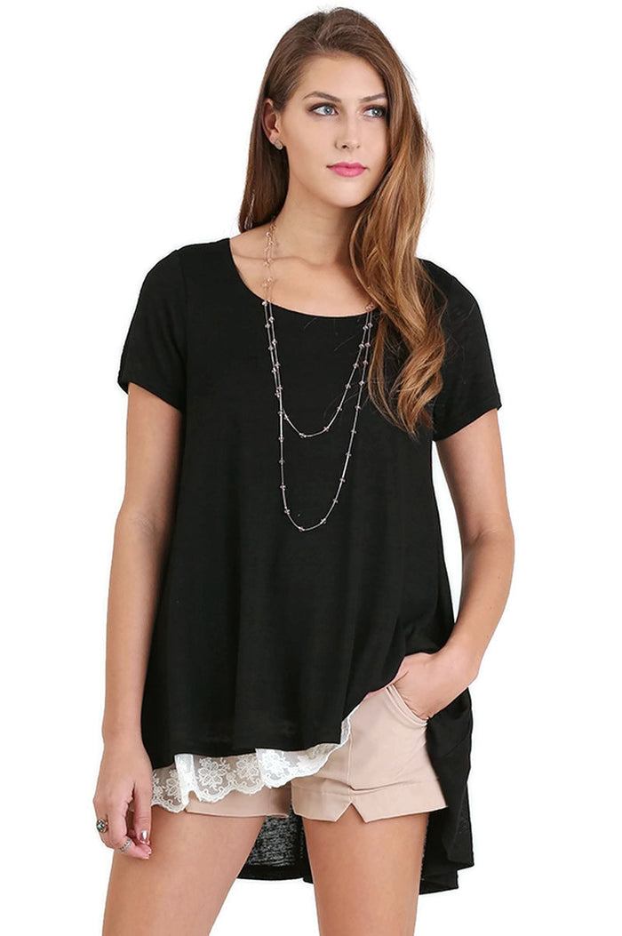 Everyday Lace Top, Black