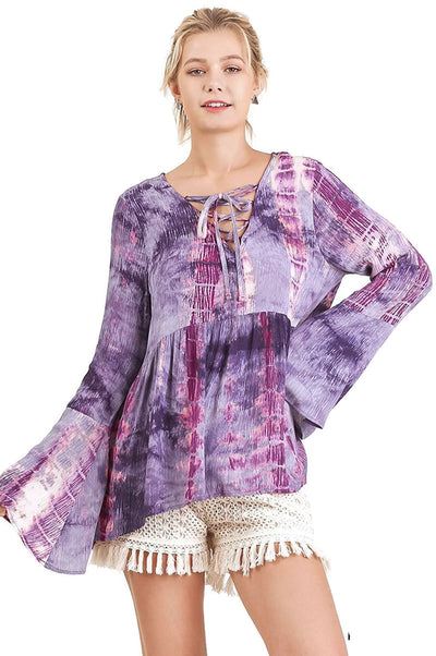 Tie Dye Criss Cross, Purple