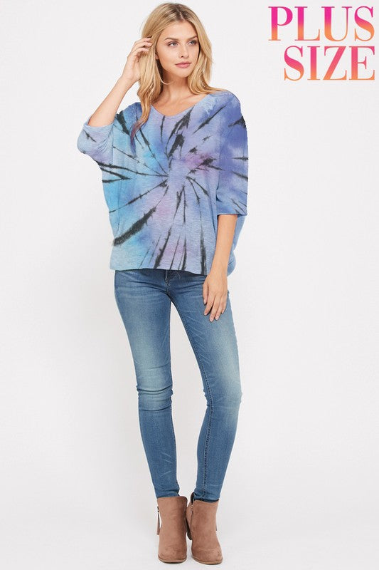 Starburst Tie Dye Knit Top