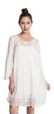 Lace Baby Doll Tunic Dress, Natural