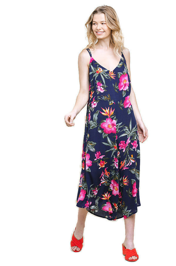 Blooming Beauty Floral Jumpsuit, Navy