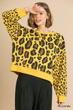 Wild Leopard Top, Yellow