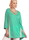 Criss Cross Crochet Tunic, Green