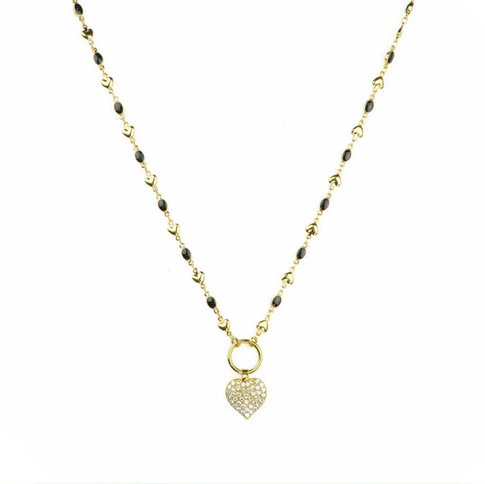 Mariana Crystal Moonlight Swarovski Crystal Heart Necklace