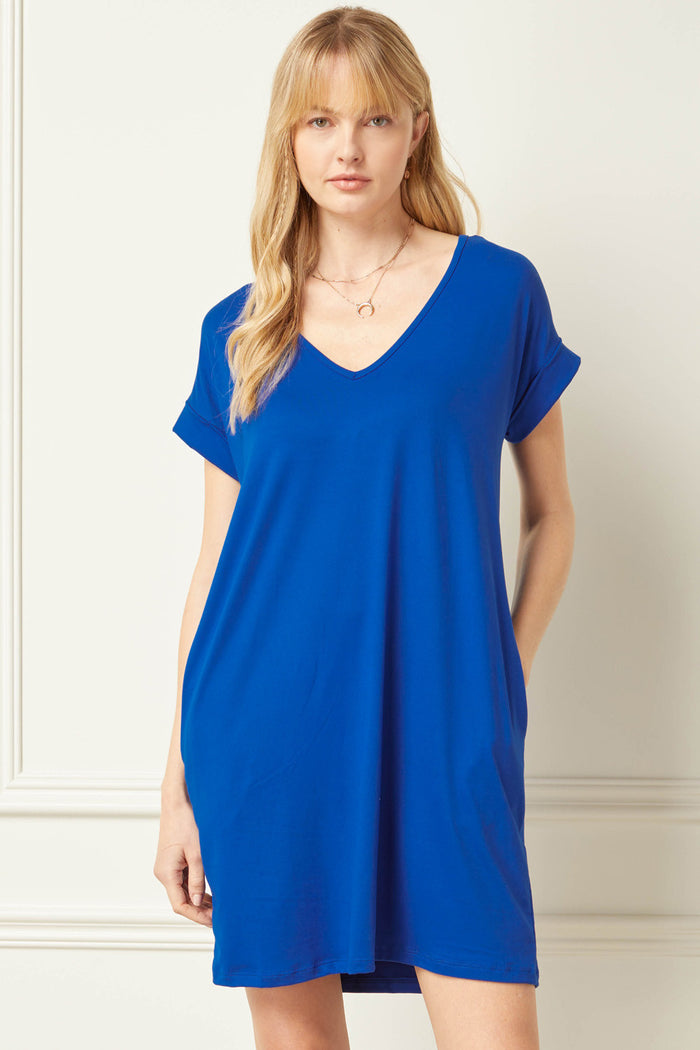 Everyday Pocket Short Dress, Royal