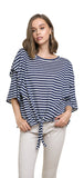 Striped Layered Top, Navy