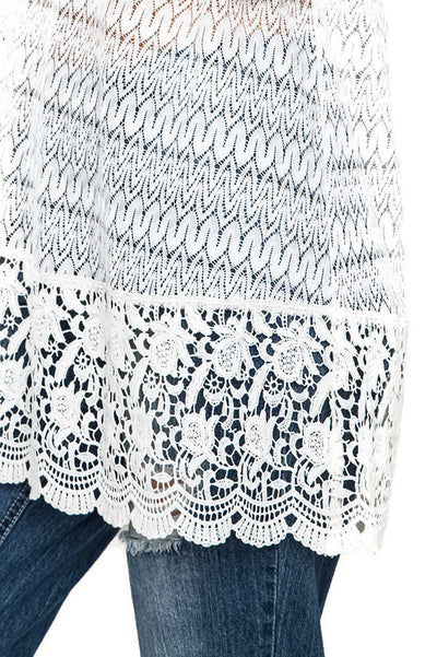Crochet Lace Tunic, Natural