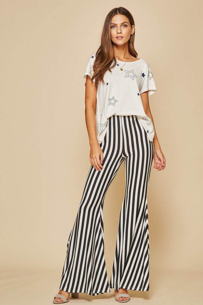 andree by unit striped bell bottoms savanna jane