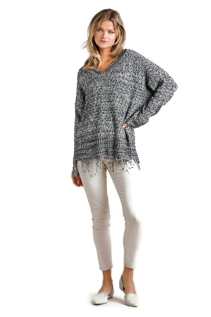 umgee / umgee usa frayed sweater