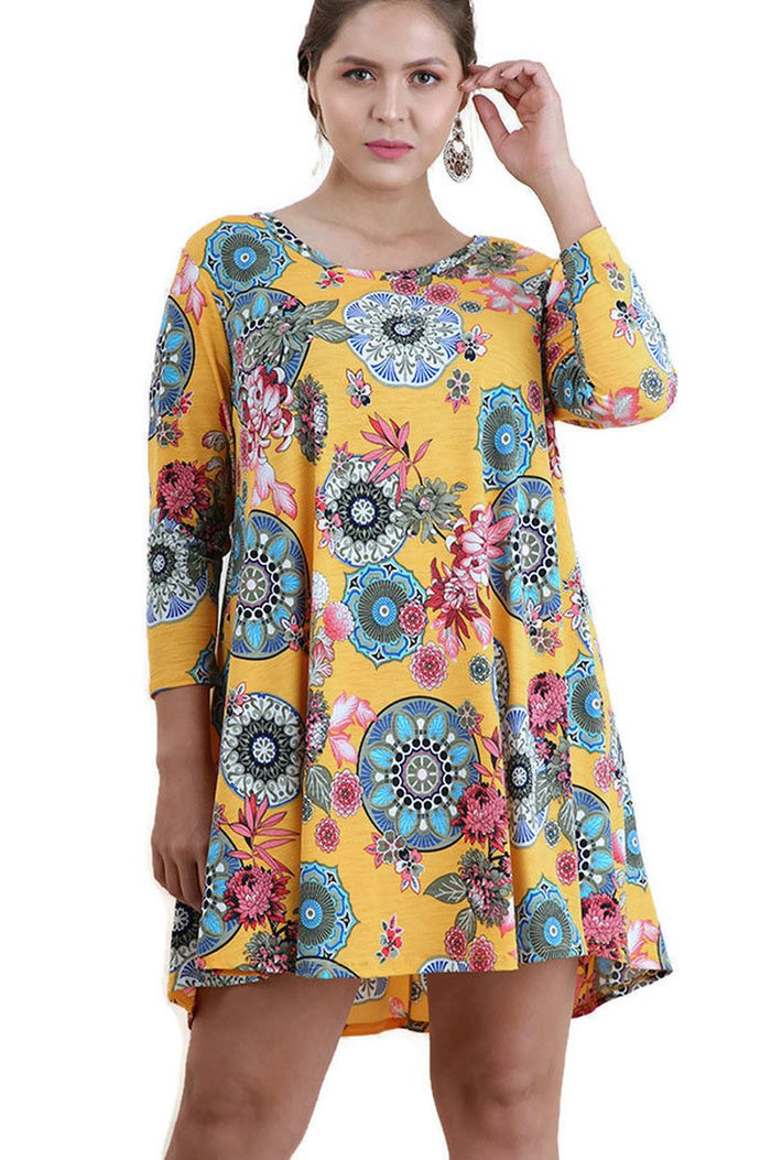 Mandala Bohemian Print Dress, Mango Mix