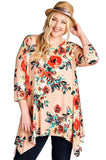 Blooming Beauty Floral Swing Top, Blush