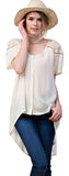 Lace Shoulder Blouse, Ivory