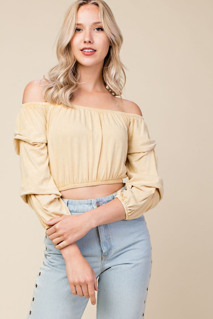 Wild Child Crop Top, Honey