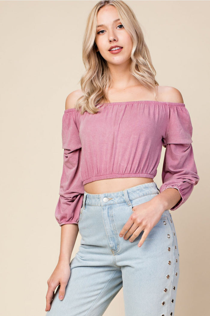 Wild Child Crop Top, Mauve