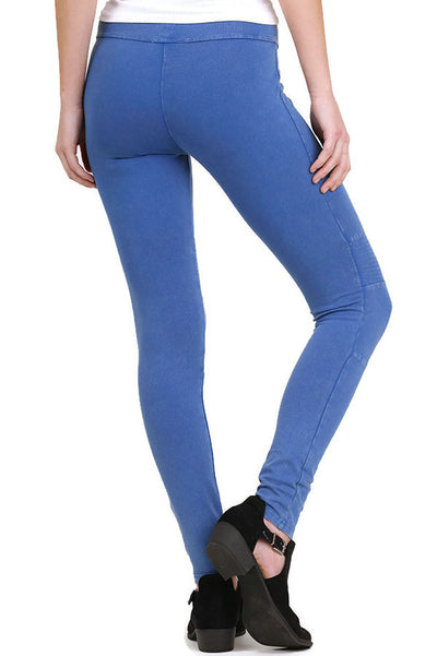 Washed Moto Jeggings, Blue
