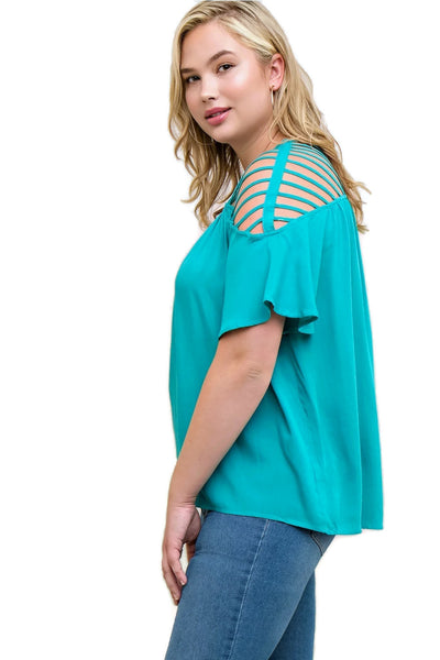 Bohemian Strappy Top, Jade