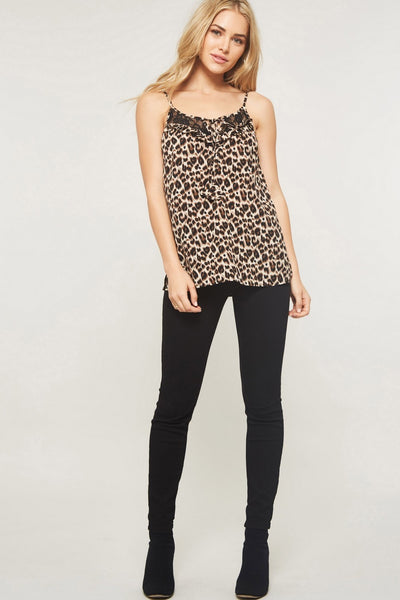 It's a Wild World Leopard Cami, Brown