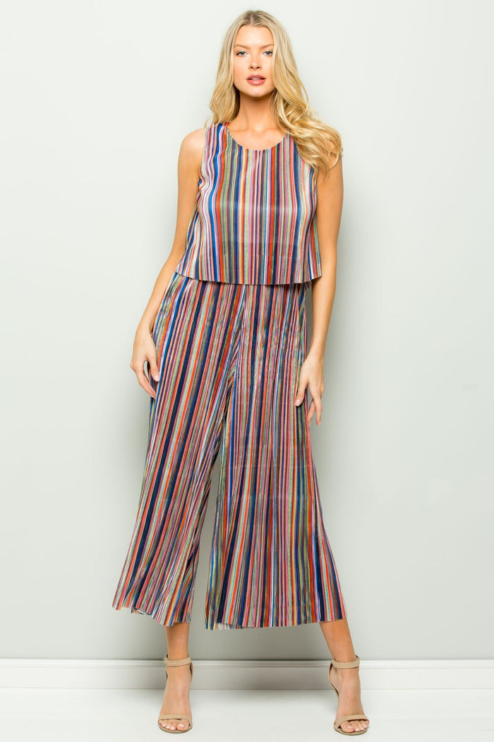 Panama Multi Stripe Jumpsuit