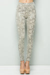 Snake Skin Leggings, Off White