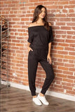 Short Sleeve Jumsuit, Black