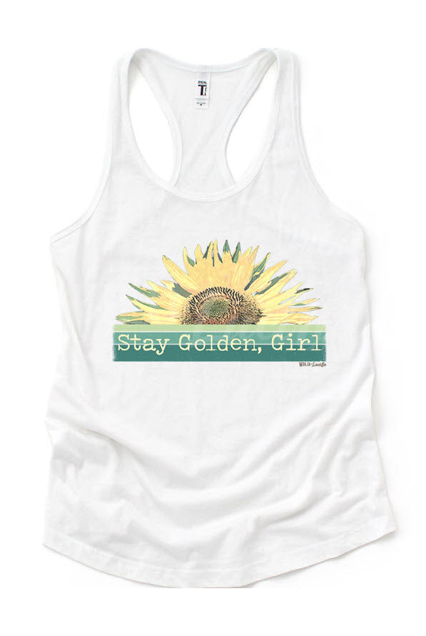 Stay Golden, Girl Tank Top