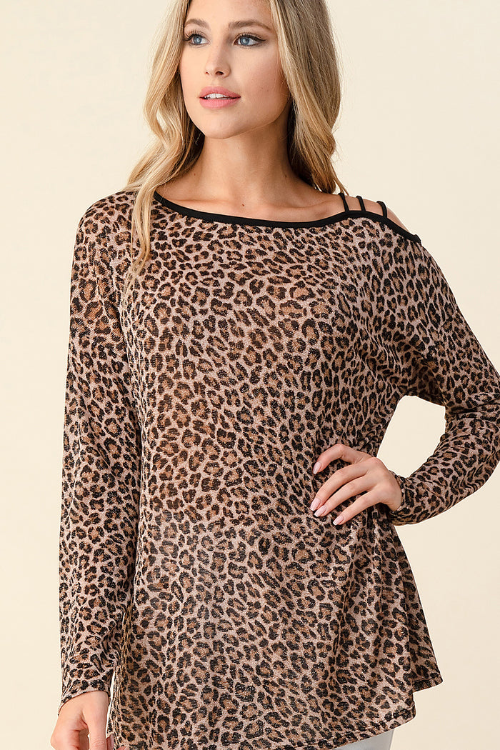 Sparly Leopard Top