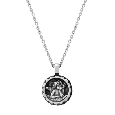 Mariana Guardian Angel Birth Stone Necklace, December
