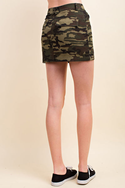 At Ease Camo Skirt, Green