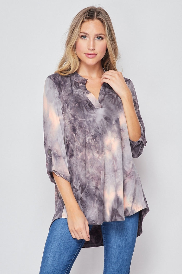 HONEYME GABBY TIE DYE TOP