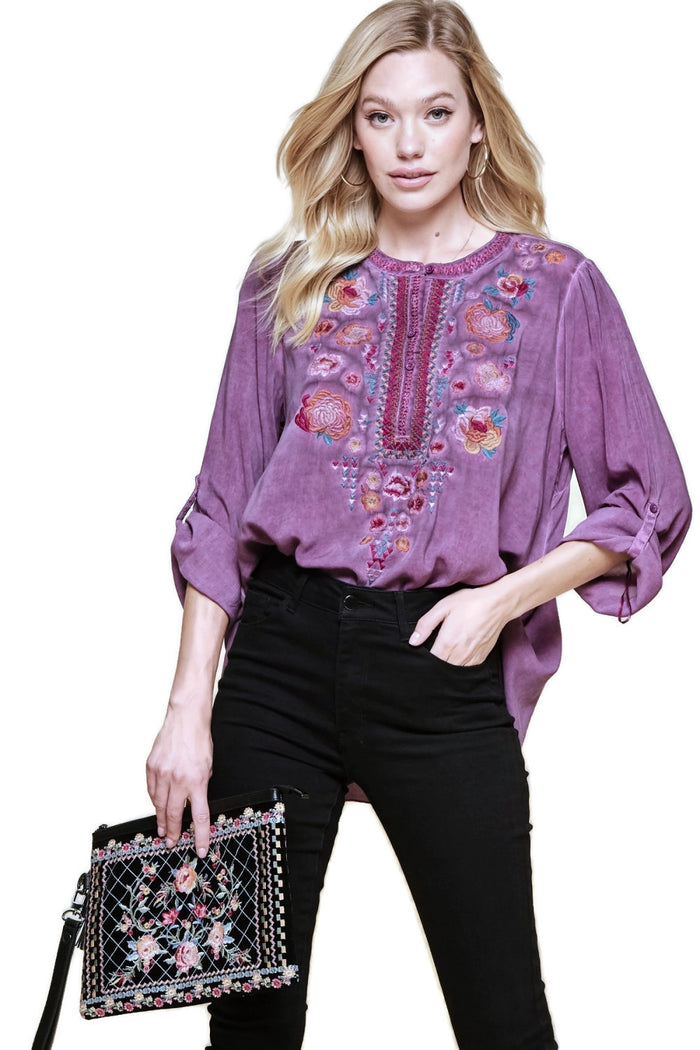 unit by andress key west embroidered tunic