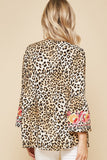 South Beach Embroidered Top, Leopard