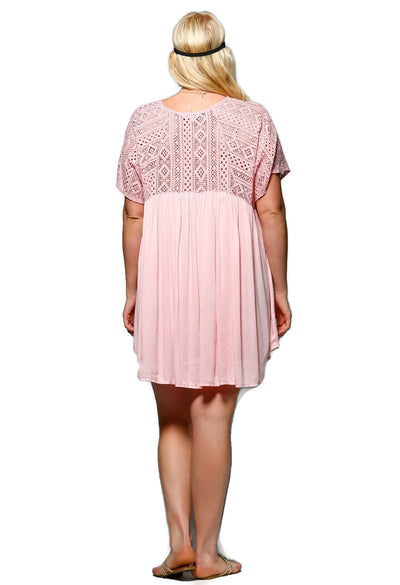 Pretty in Pink Crochet Swing Dress